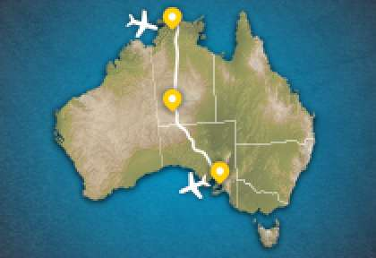 Carte Circuit l'Australie Authentique